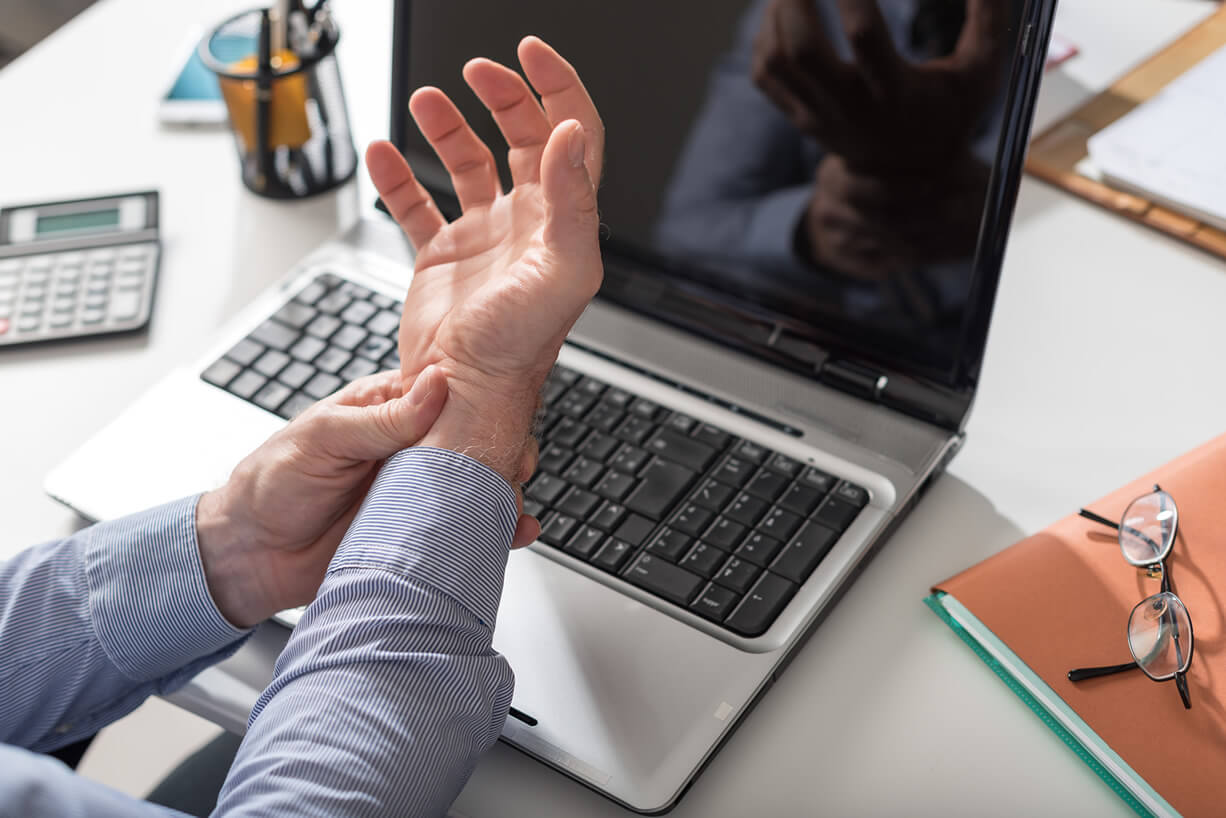 Carpal Tunnel Syndrome (wrist) and Cubital Tunnel Syndrome (elbow) can cause pain, tingling, numbness, and/or muscle weakness affecting upper extremity function.
